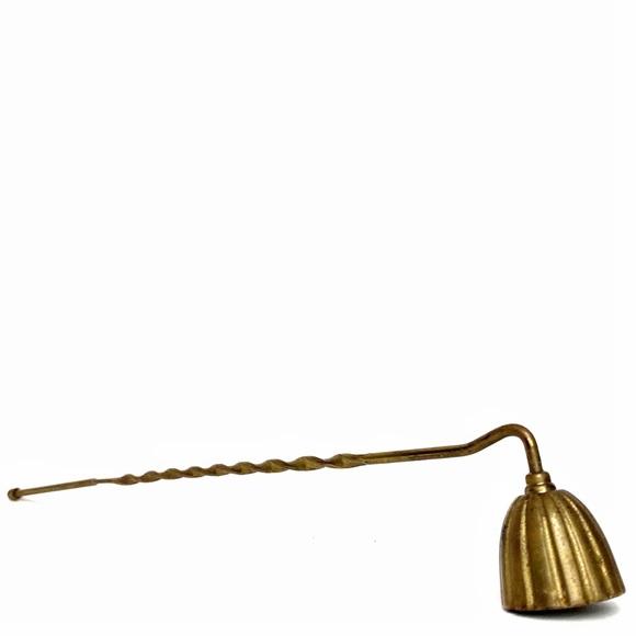 Vintage Brass Candle Snuffer Decor Spiral Handle